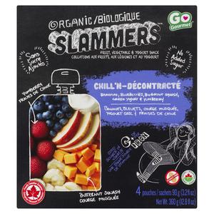 Baby Gourmet Organic Baby Snacks Slammers Chill'n Banana Berry 4 x 90 g