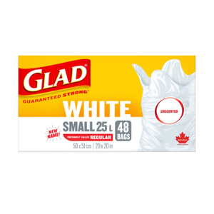 Glad Small Easy-Tie White Unscented Garbage Bags 48 EA