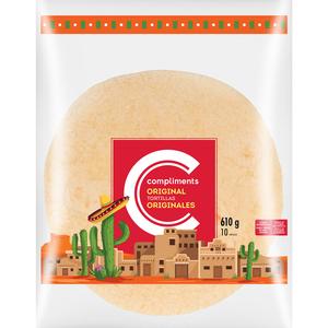Compliments Original Tortillas 10 Inch 610 g