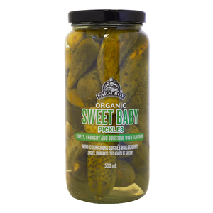 Farm Boy Organic Sweet Baby Dill Pickles 500 ml