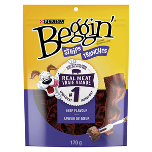 Purina Beggin' Strips Dog Treats Bacon & Beef Flavours 170 g