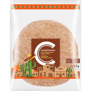 Compliments Whole Grain Whole Wheat Tortillas 366 g