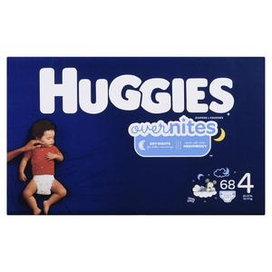 Huggies Overnite Size 4 Diapers 68 EA