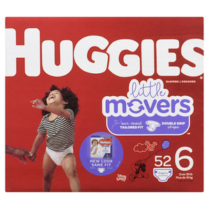 Huggies Little Movers Size 6 Diapers 52 EA