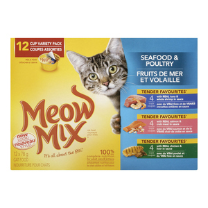 Meow Mix Market Selects Cat Food Variety Pack 12 x 78 g