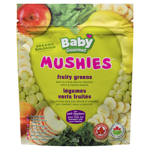 Baby Gourmet Organic Baby Snacks Mushies Fruity Greens 23 g