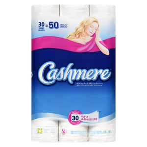 Cashmere Jumbo 2 Ply Toilet Paper 202 Sheets 30 Rolls