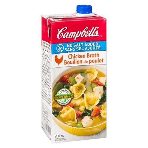 Campbell's No Salt Added Chicken Broth 900 ml
