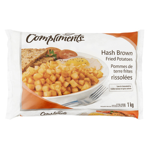 Compliments Fried Cubed Potato Hash Browns 1 kg