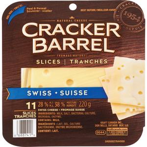 Cracker Barrel Swiss Cheese Slices 220 g