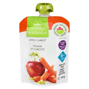 Compliments Organic Baby Food Purée Apple Carrot 128 ml