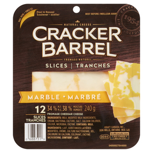 Cracker Barrel Marble Cheese Slices 240 g