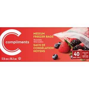 Compliments Freezer Bags Medium 40 EA