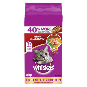 Whiskas Meaty Selections Adult Cat Food 2 kg