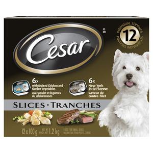 Cesar NY Strip Chicken & Vegetables Dog Food 12pk 1.2 kg
