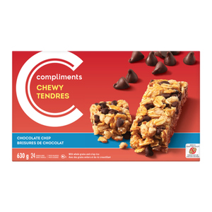 Compliments Granola Bars Chewy Chocolate Chip 24 Bars 630 g