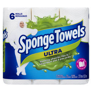 Sponge Towels Ultra Paper Towels 72 Choose-A-Size Sheets Per Roll 6 Rolls