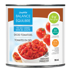 Compliments Balance Diced Tomatoes No Salt Added 796 ml