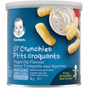 Gerber Graduates Vegetable Dip Lil' Crunchies 42 g