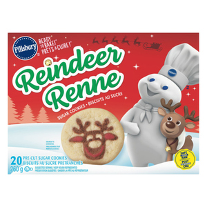 Pillsbury Sugar Reindeer Refrigerated Baked Goods 20 Count Cookies 260 g