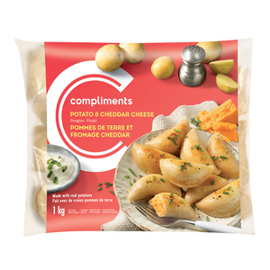 Compliments Perogies Potato and Cheddar 1 kg