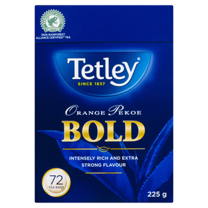 Tetley Bold Orange Pekoe Tea 72 EA