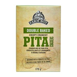 Farm Boy Double Baked Pita Crackers Crispy Crunchy 170 g
