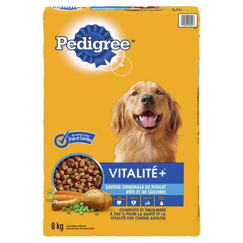 Pedigree Vitality+ Dry Dog Food Roasted Chicken & Vegetable Flavour 8 kg