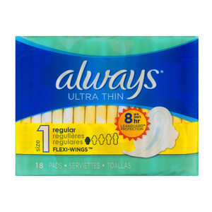 Always Maxi Ultra Thin Wings Pads 18 EA
