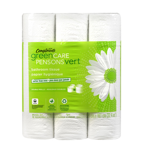 Compliments Green Care Double Rolls Bathroom Tissue 270 Sheets 12 Rolls