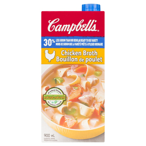 Campbell's 30% Low Sodium Chicken Broth 900 ml