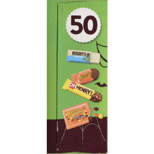 Hershey's Assorted Chocolate Bars Snack Size Halloween Candy 50 EA 567 g