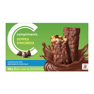 Compliments Granola Bars Coated Chocolate Chip 18 Bars 560 g