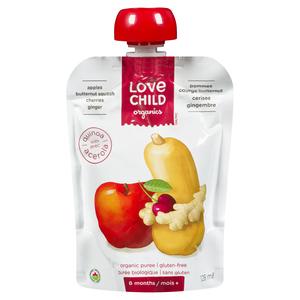 Love Child Organics Baby Food Apple, Butternut Squash, Cherry & Ginger 128 ml