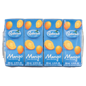 Rubicon Exotic Juice Drink Mango 4 x 200 ml