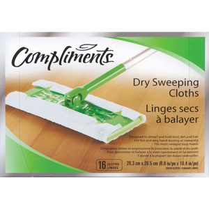 Compliments Dry Sweeping Cloths 16 EA