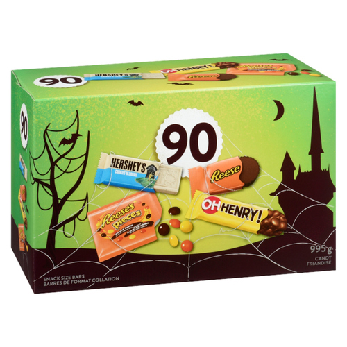 Hershey's Assorted Chocolate Bars Snack Size Halloween Candy 90 EA 995 g