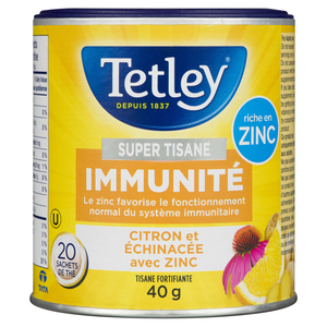 Tetley Super Herbal Immune Lemon & Echinacea Tea 20 EA