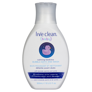 Live Clean Baby Calming Bedtime Bubble Bath & Wash 300 ml