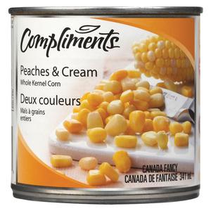 Compliments Whole Kernel Peaches & Cream Corn 341 ml