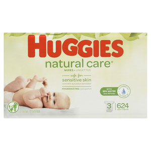 Huggies Natural Care Fragrance-Free Refill Baby Wipes 624 Sheets