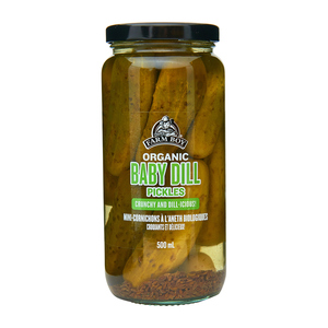 Farm Boy Organic Baby Dill Pickles 500 ml