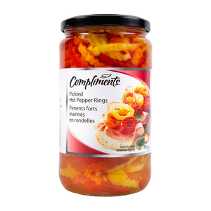 Compliments Pickled Hot Pepper Rings 750 ml