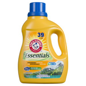 Arm & Hammer Essentials Liquid Laundry Detergent Mountain Rain 39 Loads 2.03 L