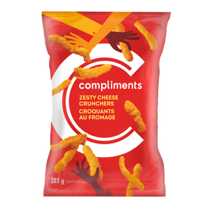 Compliments Zesty Cheese Crunchers 285 g