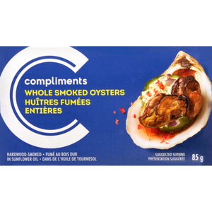 Compliments Whole Smoked Oysters 85 g
