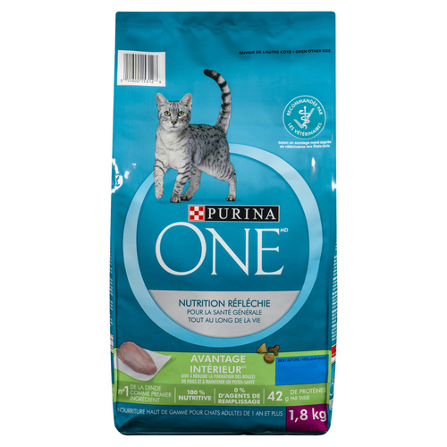 Purina ONE Smartblend Indoor Cat Food Turkey & Rice 1.8 kg