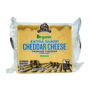 Farm Boy Organic Extra Sharp Cheddar Cheese 150 g