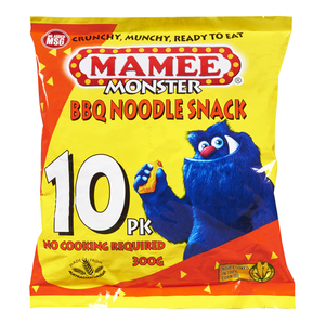 Mamee BBQ Noodle Snack 10 Pack 300 g