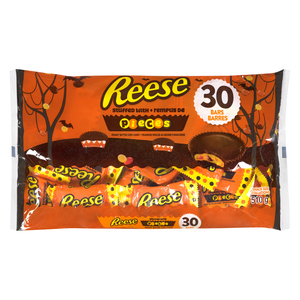 Reese's Chocolate Bars Peanut Butter Cups Halloween Candy 30 EA 510 g